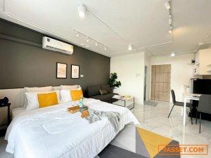 T01110 ขาย ลานนาคอนโด ชั้น 2 เนื้อที่ 24 ตรม วิวเมืองสวย ใกล้ รพ.ลานนา ตกแต่งใหม่สไตล์ Modern ART