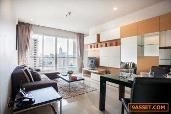Circle Condominium เซอร์เคิล คอนโดมิเนียม ใกล้ MRT เพชรบุรี เฟอร์ครบ ห้องมุม 46 ตร.ม.