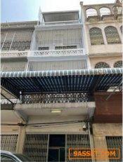 รหัสC4015 ให้เช่าอาคารพาณิชย์ 4ชั้น ถนนพระราม4 ใกล้ MRTหัวลำโพง 600 เมตร