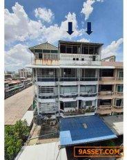 ขายอาคารพาณิชย์สองคูหา 5 ชั้นครึ่ง ย่านดินแดง เดินทางสะดวกใกล้ทางด่วน