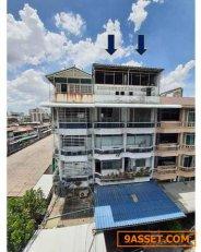 SM36 - ขาย อาคารพาณิชย์ 2 คูหา 5 ชั้นครึ่ง ย่านดินแดง เดินทางสะดวกใกล้ทางด่วน