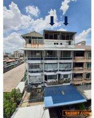SM36 - ขายอาคารพาณิชย์ 2 คูหา 5 ชั้นครึ่ง ย่านดินแดง เดินทางสะดวกใกล้ทางด่วน